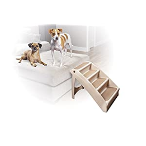 Solvit PetSafe PupSTEP Plus Pet Stairs, Foldable Steps for Dogs and Cats, Best for Small to Medium Pets 36