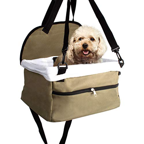 - Imperial Home Pet Bucket Booster Car Seat for Puppies and Small Dogs