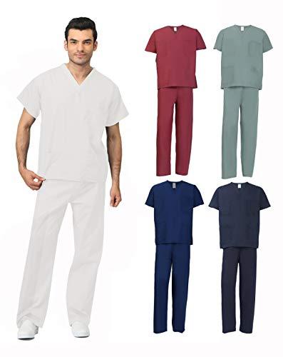Xs Reversible Unisex Pants - MILLTEX Unisex Men Women Reversible Scrubs Top & Pants Set Workwear Professionals Healthcare Medical Uniform XS-3XL (Medium, Mist Gray)