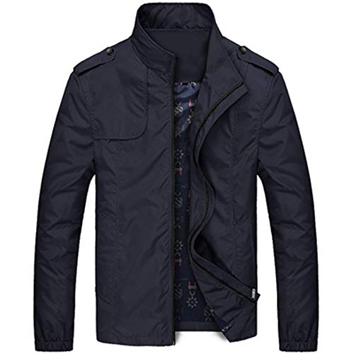 Bomber Jackets Windbreaker Classic Ever Slim EWQ Outerwear Casual Coats Lightweight Mens Fit Jackets Black 6t6w0Zq