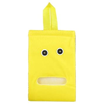 DealMux Tapeçaria WC Plush Titular rolo de papel Tissue Dispenser Amarelo