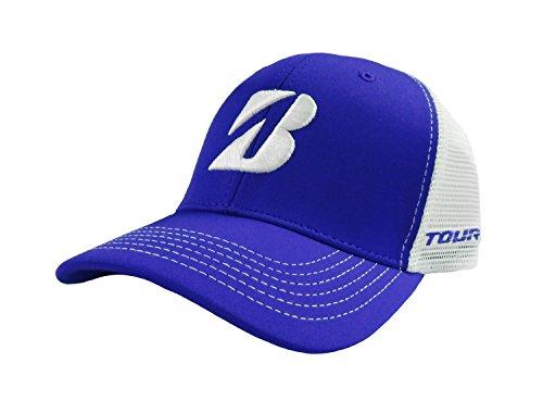 新しいブリヂストンゴルフメッシュカラーブロックロイヤルブルー/ホワイト調節可能な帽子/キャップ