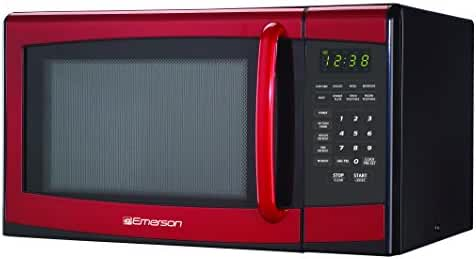Emerson MW9998RD 0.9 Cu., 900 Watt, Touch-Control Microwave Oven, Red