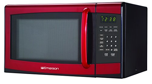 Emerson MW9998RD 0.9 Cu, 900 Watt, Touch-Control Microwave Oven, Red