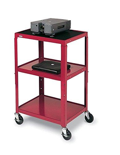 ustable Audio Visual Cart For TV/Projector/VCR Red, CD Height Adjustable AV Cart Cardinal, Adjustable Audio Visual Cart TV Projector (Vcr Cart)