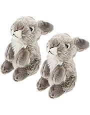 Toyvian 2Pcs Tavşan Peluş Hayvan Oyuncak Tavşan Oyuncak Çocuk Komik Peluş Oyuncak Peluş Dolması Tavşan Bebek Gri