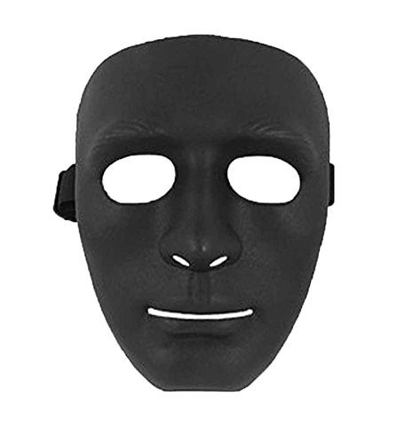 [eFuture(TM) Male Mask Halloween Costume Drama Mask (Black,2 Pieces) +eFuture's nice Keyring] (Costumes For Drama)