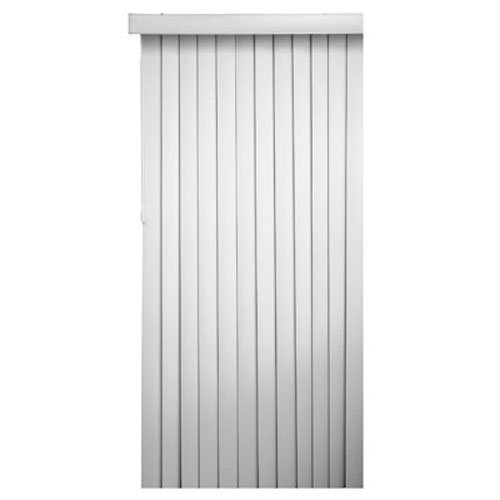 Faux Wood Vertical Blinds - Homepointe 7884VERTW White PVC Vertical Blind, 3.5-Inch by 78-Inch by 84-Inch