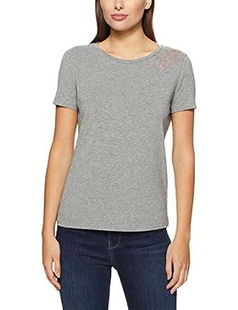 EA7 Emporio Armani Women's T-Shirt, Medium Grey, XS