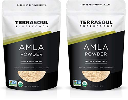 Terrasoul Superfoods Organic Amla Berry Powder (Amalaki), 2 Lbs - Rich in Antioxidant Vitamin C | Supports Immunity (Best Ayurvedic Medicine For Grey Hair)
