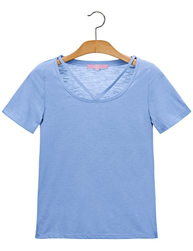 Regna X RENGA X No Bother Women's V Neck Short Sleeve 3 Styles T Shirts Tops