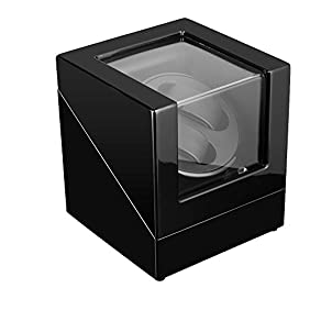 Double Watch Winder Box For Rolex Automatic Watches, Wood Shell With Piano Paint,Powerd by Janpanes Motor