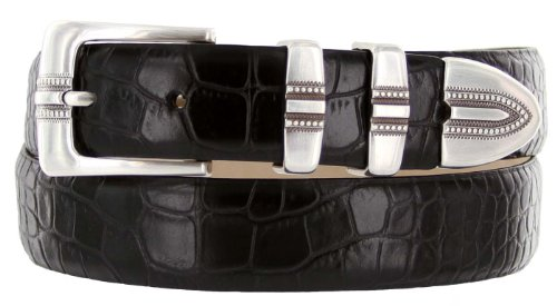 Calfskin Belt (Kaymen Italian Calfskin Leather Designer Dress Golf Belts for Men 1-1/8