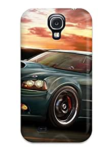 Premium Protection Dodge Charger Car Case Cover For Galaxy S4- Retail Packaging