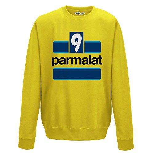 Hernan Leggende Crespo Parma 00 Sun Vintage 9 Stagione Yellow Kiarenzafd Felpa 99 Girocollo Calcio ZqaaHg