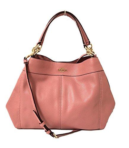 Coach Pebbled Leather Small Lexy Shoulder Bag Handbag Vintage Pink 4533