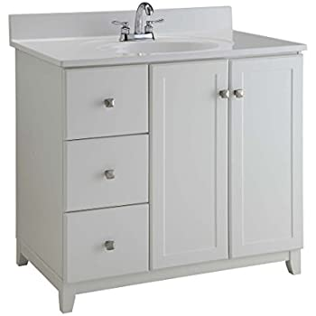 38 Quot Single Bathroom Vanity Off Center Right Sink 904