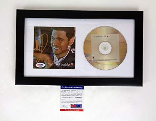 Michael Buble Signed Autograph Love CD Framed PSA/DNA COA