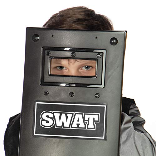 SWAT Accessory Kit for Children's Costumes - Kid Gear for Police Uniform - Vest, Shield, Watch, Cuffs & Sunglasses - Props for Halloween, Dress Up, Pretend