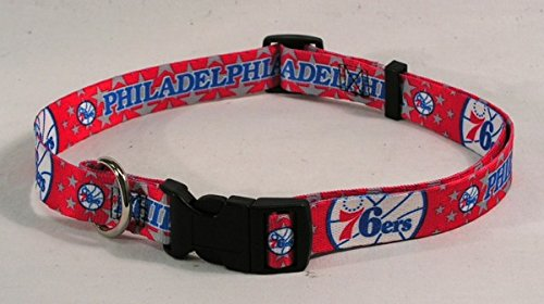 NBA Philadelphia 76ers Adjustable Pet Collar, Team Color, X-Large