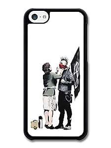 AMAF ? Accessories Banksy Punk Mum Case for iPhone 5C Street Art