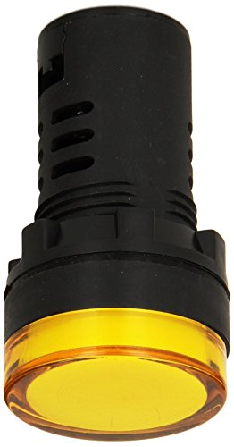 YuCo Box of 10 Yc-22Y-6 European Standard Tuv Ce Listed 22Mm LED Panel Mount Indicator Lamp Yellow 12V AC/DC