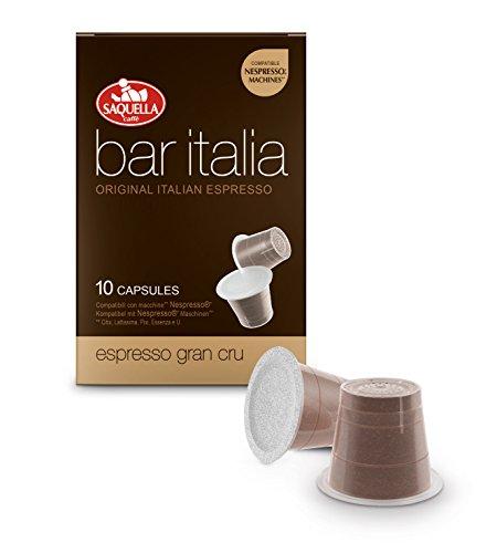 de1cf713fb03bd Saquella Caffe Bar ITALIA Espresso Gran Cru, 10 Kapseln, Nespresso ...