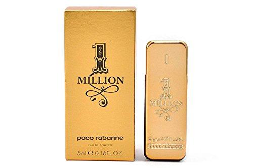 Paco Rabanne 1-Million Eau de Toilette Splash , 0.17 Fluid Ounce