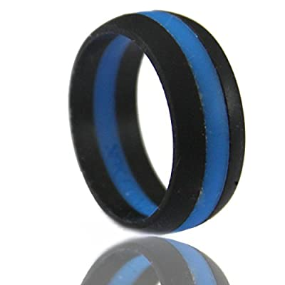 NAK Fitness Men's Silicone Wedding Band. Safe and Durable Silicone Wedding Ring for The Active Lifestyle.