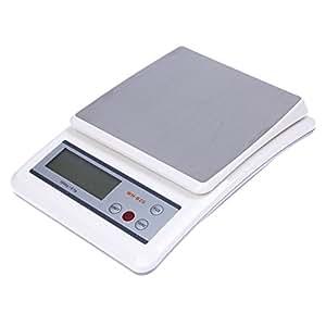 whitelotous 3000G x 0,1G electrónica de cocina y alimentos escala de peso pantalla LCD escala de cocina electrónica