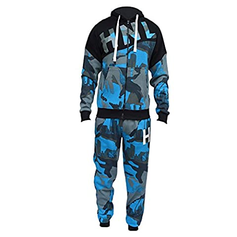Kids Boys Tracksuit HNL Camouflage Hoodie & Botom Jog Suit New Age 7-13 Years