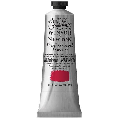 Winsor & Newton Professional Acrylic Color Paint, 60ml Tube, Permanent Alizarin Crimson