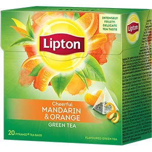 Lipton Green Tea Pyramids, Mandarin Orange 20 ct (Pack of 6)