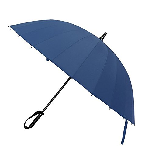 Miego Umbrella 39 Inch Diameter Windproof Sunrain Golf Umbrella Rain & Wind Resistant Long Umbrella with 24 Ribs (Blue)