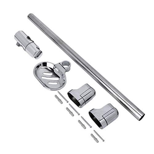 1 Set Shower Rod Soap Dish Lifter Pipe ABS Lifting Frame Adjustable Head Holder Style - Dish Soap Riser Mount
