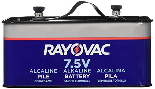(RAYOVAC Lantern Battery, 7.5 Volt Screw Terminals, Alkaline Emergency, 803C )