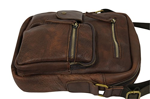 AMBRA - Bolso bandolera  unisex Hombre marrón marrón medium