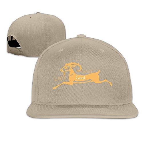 Custom Unisex Crazy Goat Lady Flat Bill Baseball Hats Caps Natural - Fathead Green Bay Packers Helmet