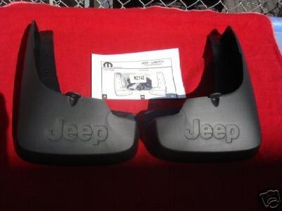 Jeep Liberty 2008-2012 FRONT Molded Splash Guards Mopar OEM