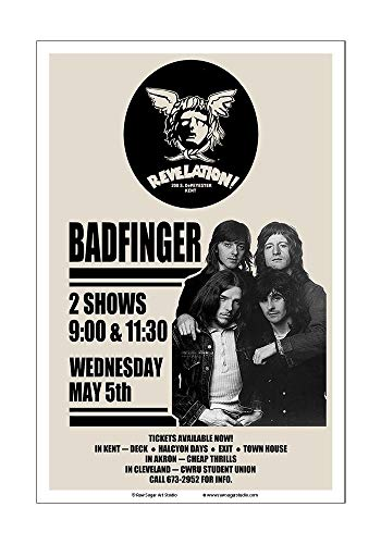 Raw Sugar Art Studio Badfinger 1971 Kent Ohio Concert Poster