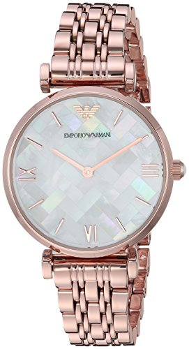 Emporio Armani Women's 'Dress' Quartz Stainless Steel Casual Watch, Color:Rose Gold-Toned (Model: AR11110)