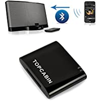 Topcabin 4.0 APTX Wireless A2dp Bluetooth Music Receiver Adapter for Bose Sounddock Phillips Beatbox JBL and Other Dock Stations /Nd 30-pin Ipod Iphone Dock Speaker for iPhone, Samsung
