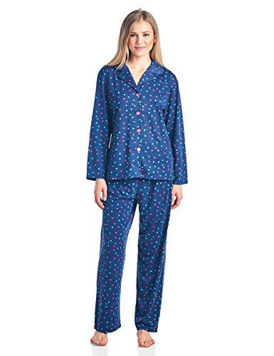 Confetti Pajamas (BHPJ By Bedhead Pajamas Women's Brushed Back Soft Knit Pajama Set - Navy Multi Confetti Dots - Medium)