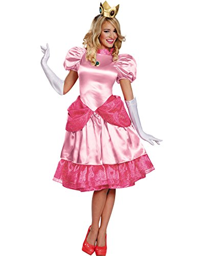 Princess Peach Deluxe Adult Costume - -