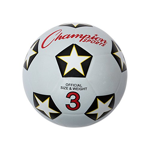 Champion Sports Size 3 Rubber Cover Soccer Ball -
