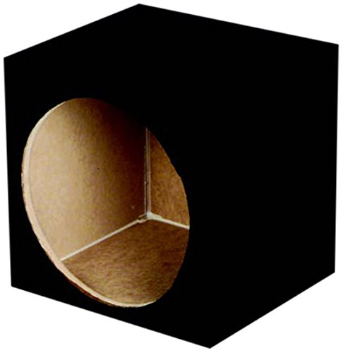 Q Power SOLO10 Solo Series MDF Wood Carpeted Single 10-Inch Unloaded (Subwoofer Unloaded Enclosure Box)