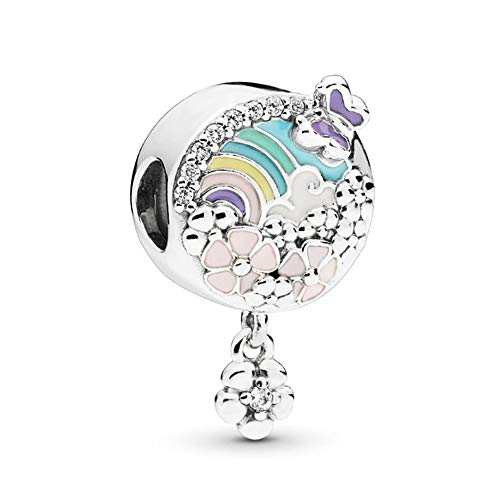 (SUNWIDE Multi-Color Flower Butterfly Charms fit Pandora Charms Bracelets (Flower))