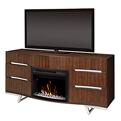 Dimplex Electric Fireplace, TV Stand, Media Console and Entertainment Center with Multiple Storage Cabinets in Burnished Cherry Finish - Valentina #GDS25CD-1826BC