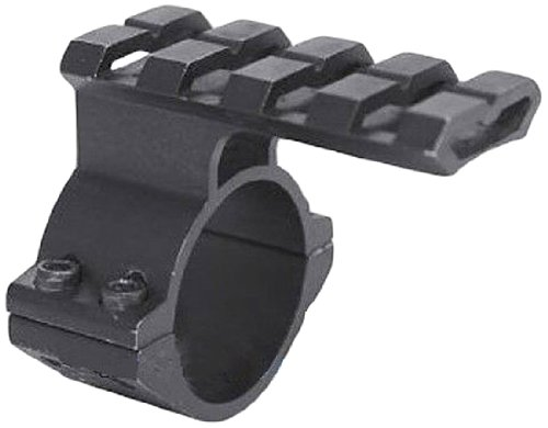 Picatinny Rail Scope Mounts (Ade Advanced Optics 1-Inch Scope Adapter Ring/Mount with Picatinny/Weaver Top Rail for Backup/Second Laser, Anodized Black)