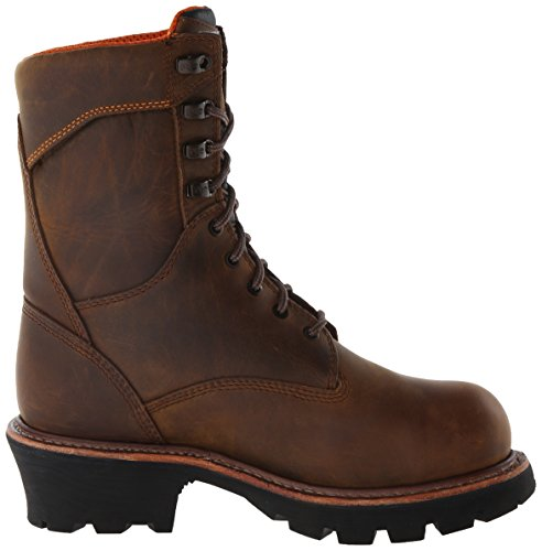 Logger Waterproof Rip Mens Toe Saw Boot Steel 9 Hunt Work Pro Timberland Distressed and Leather Brown R4qXpcU8Ap